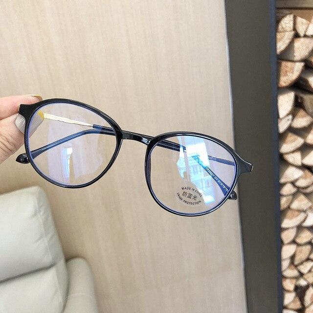 Фото vwktuun tr90 анти синий светильник круглые очки оправа женский