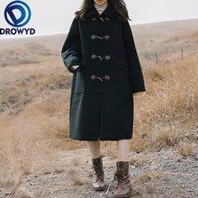 Женская верхняя одежда осенне зимняя модная теплая шерстяная