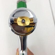 цена на SAT1131 HVLP Air Spray Gun Gravity Feed Type 1.3mm Car Face Painting Gun Pneumatic Sprayer