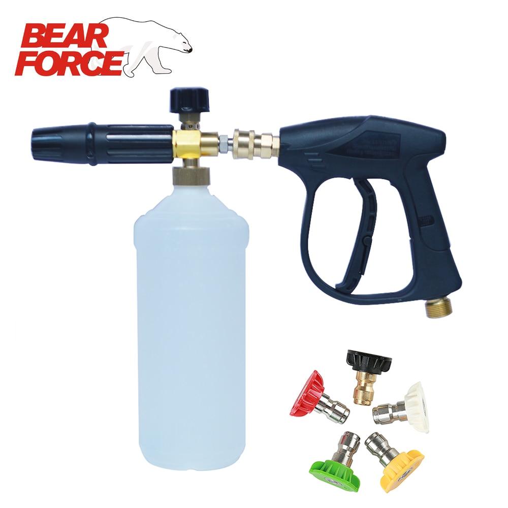 Мойка под давлением, поролоновый пистолет, набор моек для автомобиля, пенная насадка, водяной пистолет, набор, мойка пены, пушки для мыла, мой...