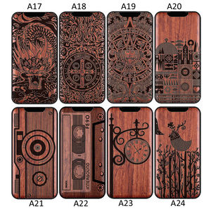 Image 4 - 3D Carved Wood Cartoon Bear Case For Xiaomi Mi Note 10 Note10 Pro Dragon Lion Wolf Tiger Tree wooden carve Cover