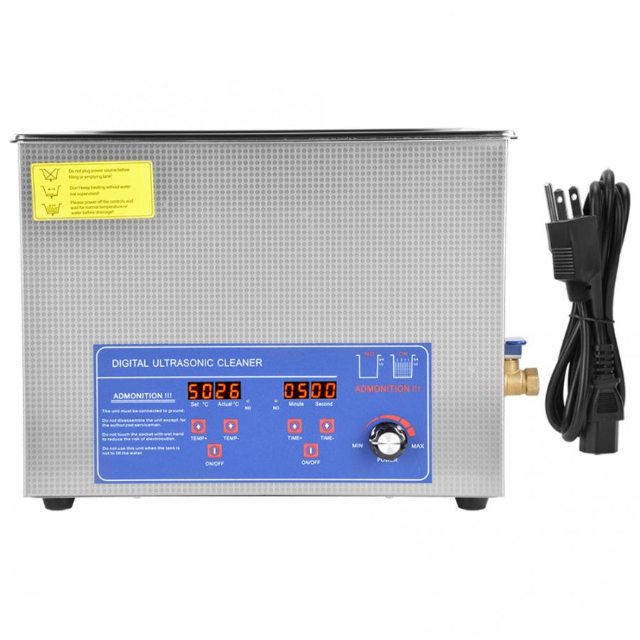 Ultrasonic Jewelry Cleaner 60AL 15L Digital Ultrasonic Washing Machine Temperature Adjustable Ultrasonic Cleaner 40KHz