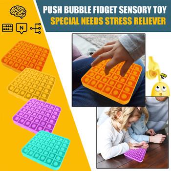 Nowość Funny Push Bubble Fidget zabawka sensoryczna żel krzemionkowy autyzm specjalne potrzeby zabawki antystresowe tanie i dobre opinie Silikon CN (pochodzenie) Unisex Push Bubble Fidget Sensory Toy none Horror 6 lat