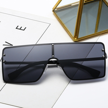 Big Frame Gradient Shades Oversized Sunglasses Square Brand Designer Vintage Women Fashion Sun Glasses UV 400 shauna newest contrast color frame women sunglasses brand designer mixed color gradient square glasses