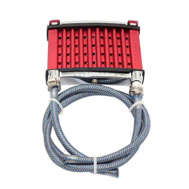 אוניברסלי אופנוע CNC אלומיניום מנוע שמן Cooler קירור רדיאטור ערכת עבור 50cc 110cc 125cc 140cc 150cc טרקטורונים שביל עפר