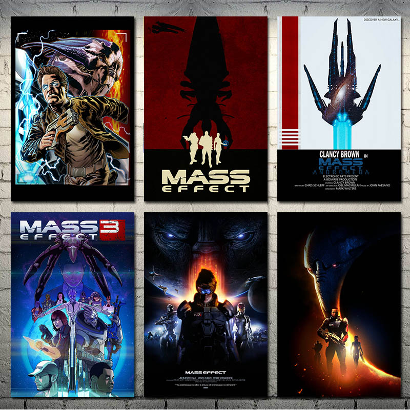 Mass Effect Hot Game Art Silk Canvas Poster Print 13x20 24x36 inch For Living Room Wall Decoration-002(China)