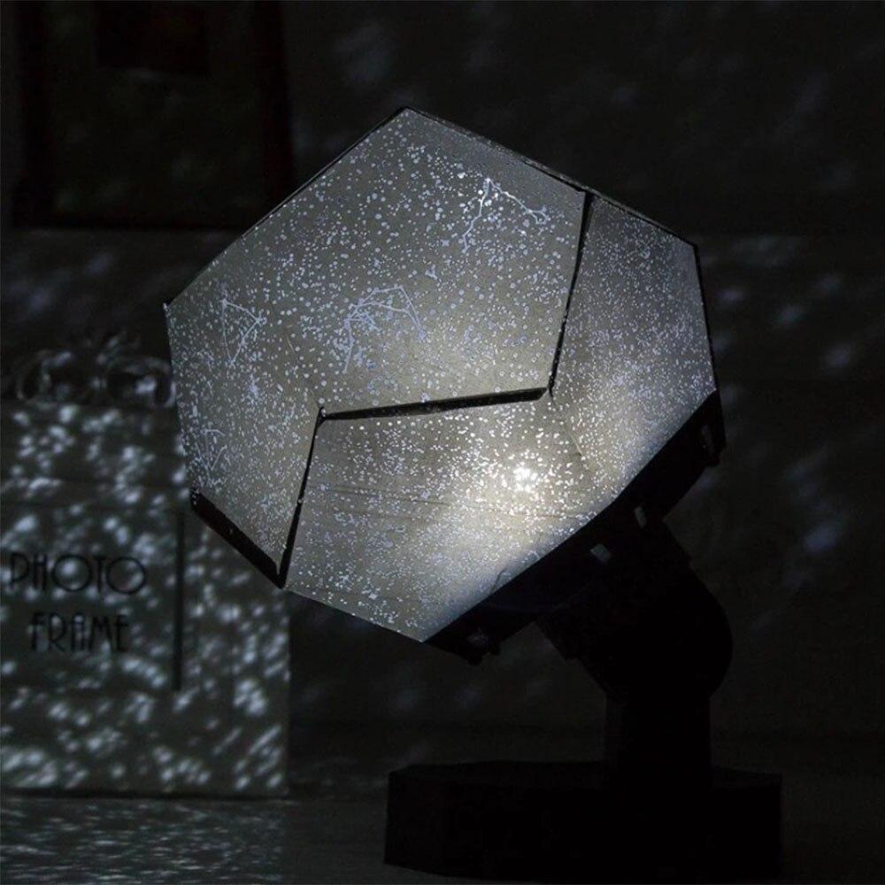Sky Star Projector LED Night Light Science Starry Ocean Projection Lamp DIY Assembly Romantic Bedroom Light Kids Birthday Gift