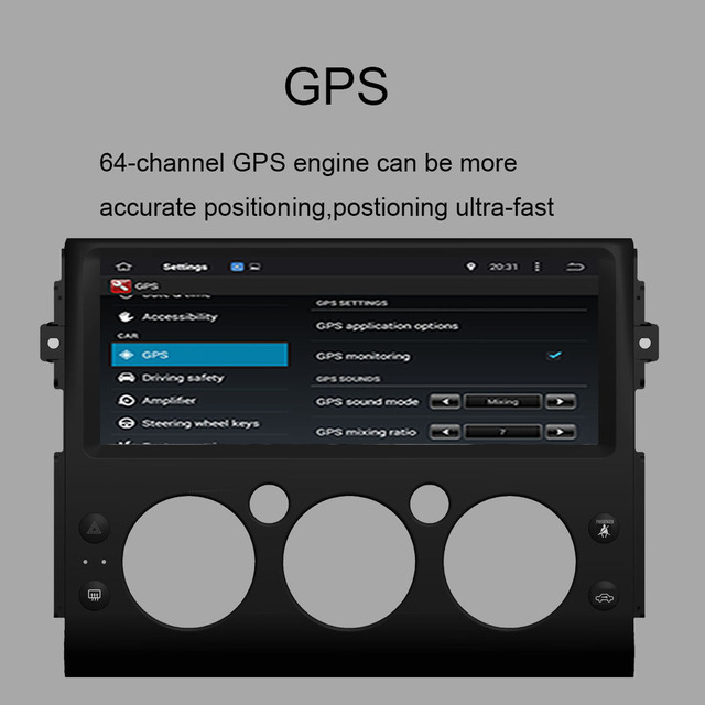 Android 10.0 Octa Core 4GB RAM Car GPS Player Radio Stereo For Toyota FJ Cruiser 2006-2019 GPS Navigation Car Radio Stereo WIFI