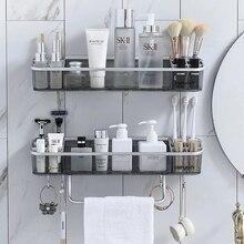 Salle de bain sans poinçon étagère shampooing cosmétique serviette étagère de rangement organisateur bain coin support articles ménagers accessoires de salle de bain