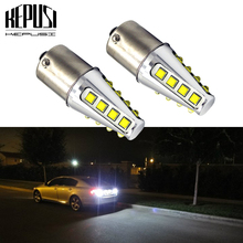 цена на 2x 1156 BA15S Car LED P21W 7506 7527 LED Bulbs Auto Light Turn Signal Backup Reverse Brake Light for Hyundai Kia Honda Ford