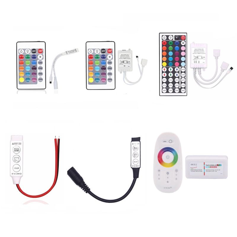 Novelty RGB LED Strip Light Tape Accessories SMD 5050 3528 2835 DC12V 24key / 44 key RGB IR RF Remote Control For RGB led strip