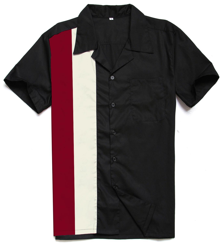 2020 Men Shirt Sexy Daily Wardrobe Classic Retro Shirt ST122 Black Vintage Casual Summer Shirt Plus Size camisa hombre