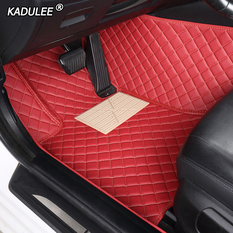 Kadulee Auto Custom Car Floor Mats For Jeep Grand Cherokee Compass Commander Renegade Waterproof Car Accessories Foot Mat