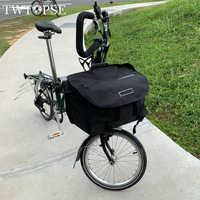 TWTOPSE S bolsas impermeables Panniers de bicicleta para Brompton plegable bicicleta cesta de equipaje de verduras con cubierta impermeable bloque transportador