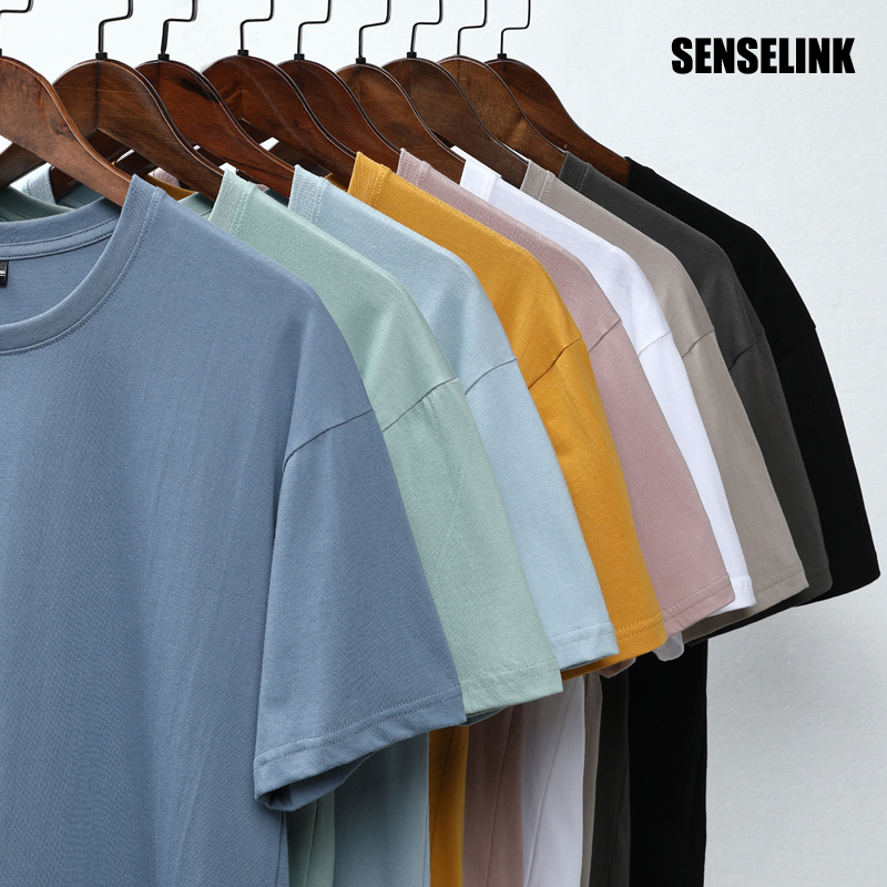 2021 Brand New Spring Summer Men's Pure Color T-shirt Cotton Fashion Causal Classic High Quality Loose Tees 4XL T-shirt 1