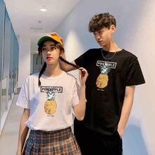 Mens tee shirt pineapple pattern retro basic t women casual