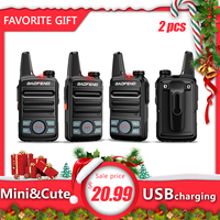 2pcs Baofeng BF T99 Mini Walkie Talkie kids Portable Two Way Radio with USB charger Child HF Transceiver