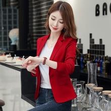 2020 Spring Autumn Women Blazer Long Sleeve Blazers Solid On