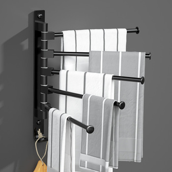 Towel Holder Porte Serviettes Salle Bain Kitchen Bathroom Toalha Banheiro Toallero Adhesivo Towel Rack Accroche Torchon Mural 1
