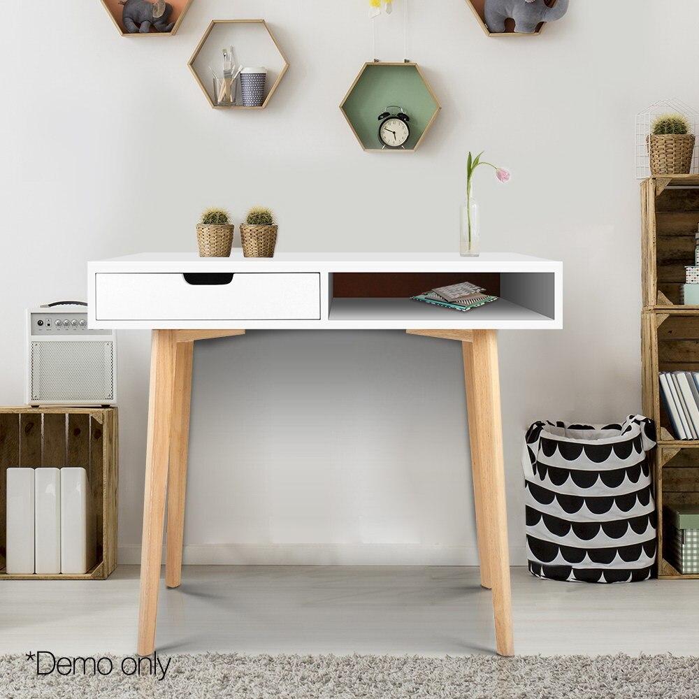 Artiss bois bureau ordinateur bureau blanc bureau maison Gaming PC meubles l-forme coin étude ordinateur Table avec tiroirs AU