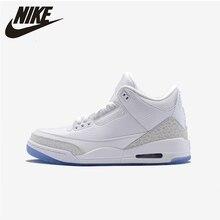 Nike Air Jordan 3 AJ3 white mens basketball shoes New Arrival Original Comfortable Outdoor Sports  Sneakers  # 854273/136064