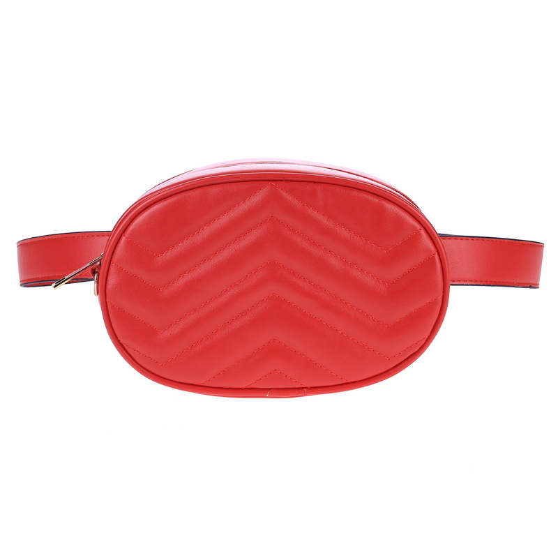 2019 New Women Pack Waist Bag Round Belt Designer Leather Chest Handbag Fashion High Quality
