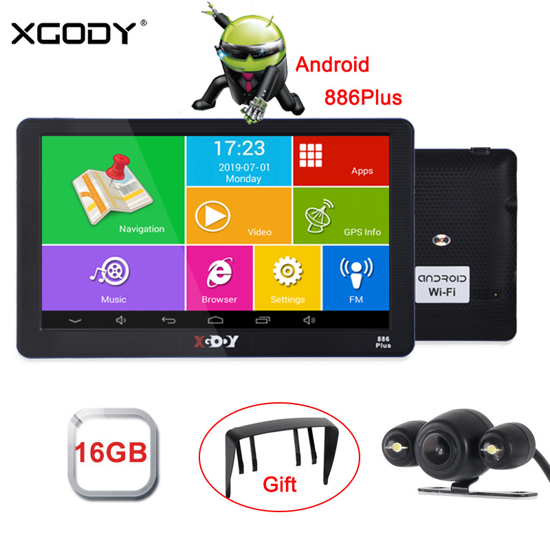 XGODY GPS Navigation Truck Android Sat Nav Russia-Navitel Wifi 16GB Car EU 512 Map FM