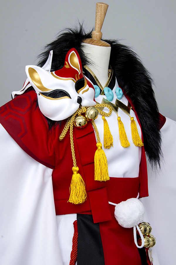 陰陽マスター Onmyouji フォックスコスプレ衣装着物スーツハロウィンカーニバルフルセット