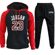 Jordan 23 Tracksuit Men Sets Winter Hoodies Pants 2 Piece Set Fashion Hoody Mens Sweatshirt Sport Joggers Sweatpants Suit