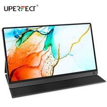 UPERFECT taşınabilir monitör dokunmatik ekran dahili 10800mAh piller yükseltilmiş 15.6 inç IPS HDR 1080P şarj edilebilir USB C ekran