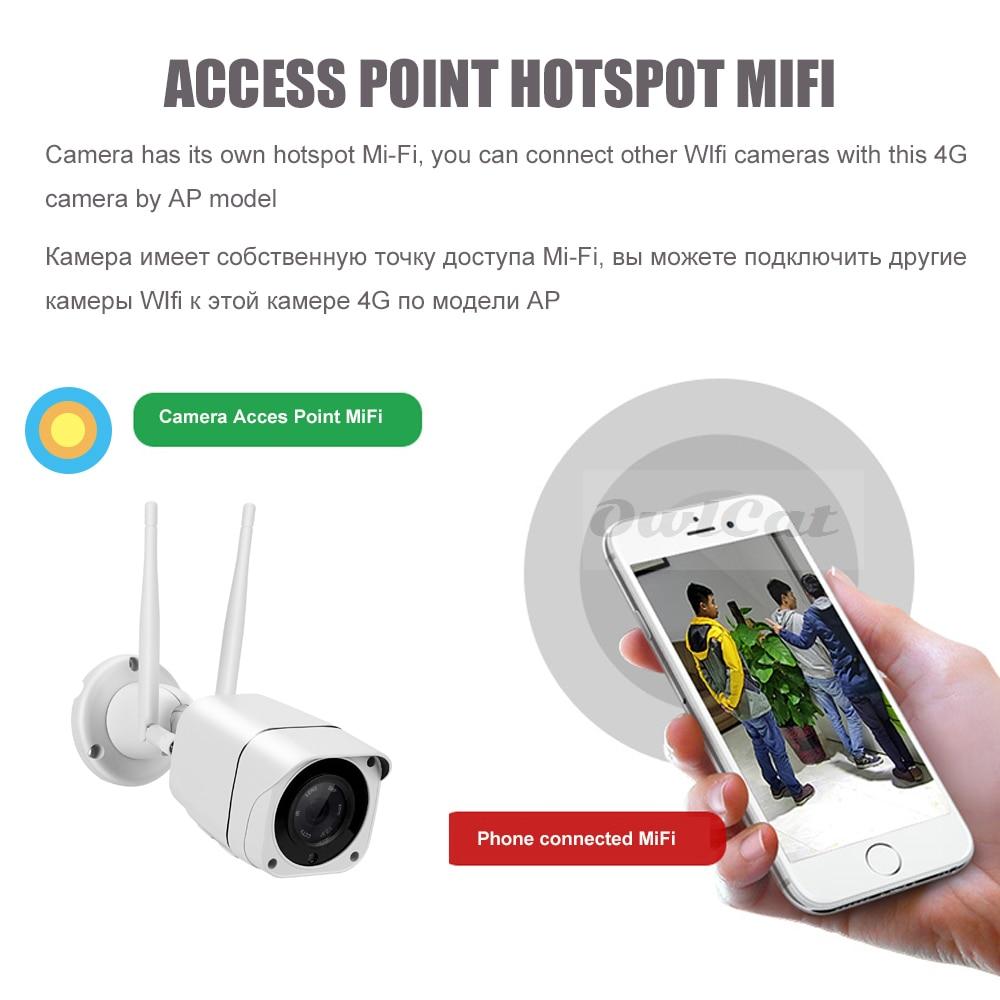 OwlCat HD 1080P 2mp Bullet IP-kaamera traadita GSM 3G 4G SIM-kaardi - Turvalisus ja kaitse - Foto 4