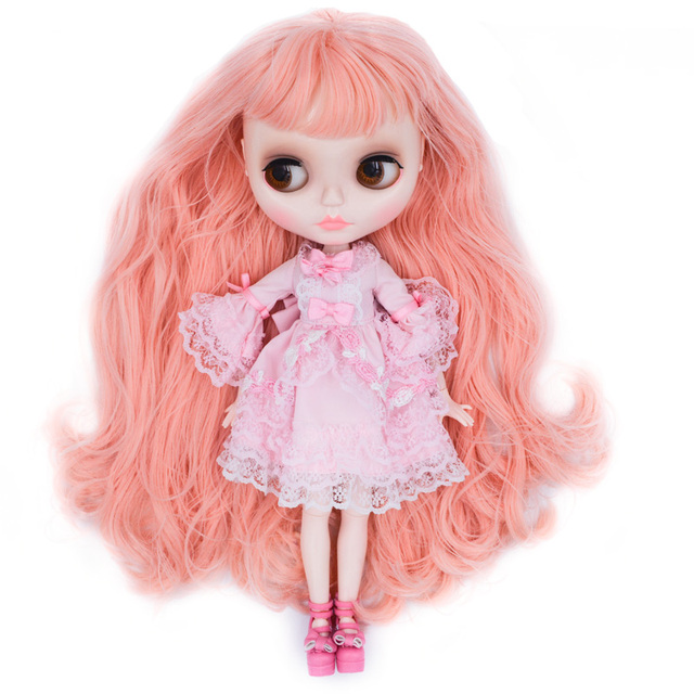 Neo Blyth Doll Customized NBL Shiny Face,1/6 OB24 BJD Ball Jointed Doll Custom Blyth Dolls for Girl, Gift for Collection FHYM