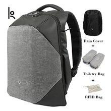Korin tasarım ClickPack Pro Anti Cut Anti theft sırt çantası erkekler Laptop sırt çantası 15.6 inç okul çantaları erkek