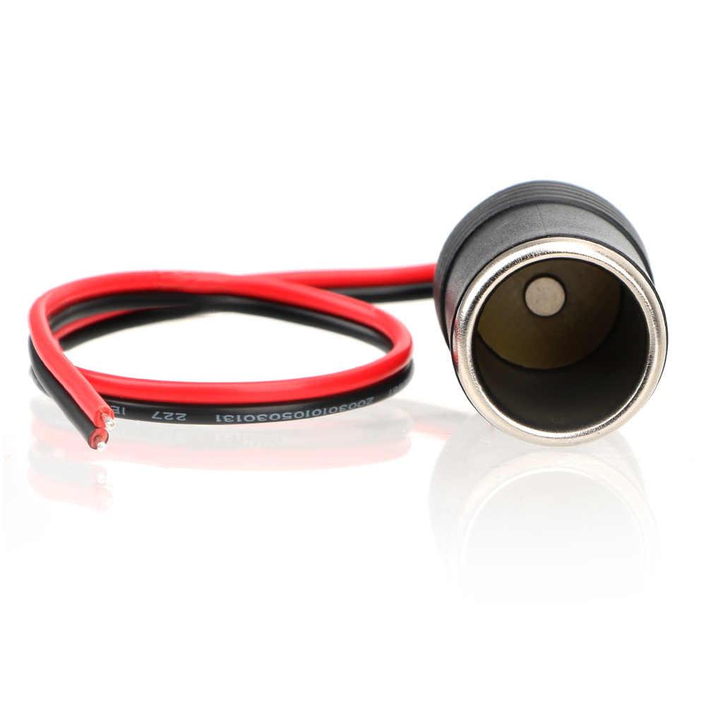 車のシガーライタープラグレセプタクルオートインテリアアクセサリープラグコネクタアダプタ 12 〜 24 v 15A 200 ワット充電器ケーブルソケット