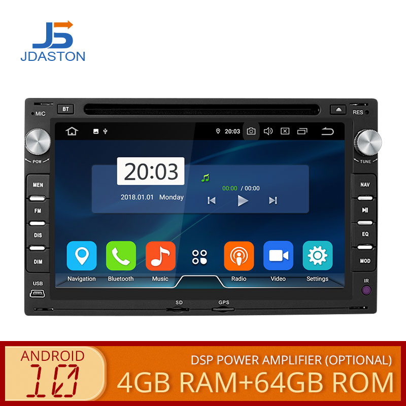 JDASTON <font><b>Android</b></font> 10 Car DVD Player For Volkswagen VW Bora Golf Polo GOLF MK3 Mk4 TRANSPORTER T5 T4 Multimedia Stereo <font><b>2</b></font> <font><b>Din</b></font> Radio image