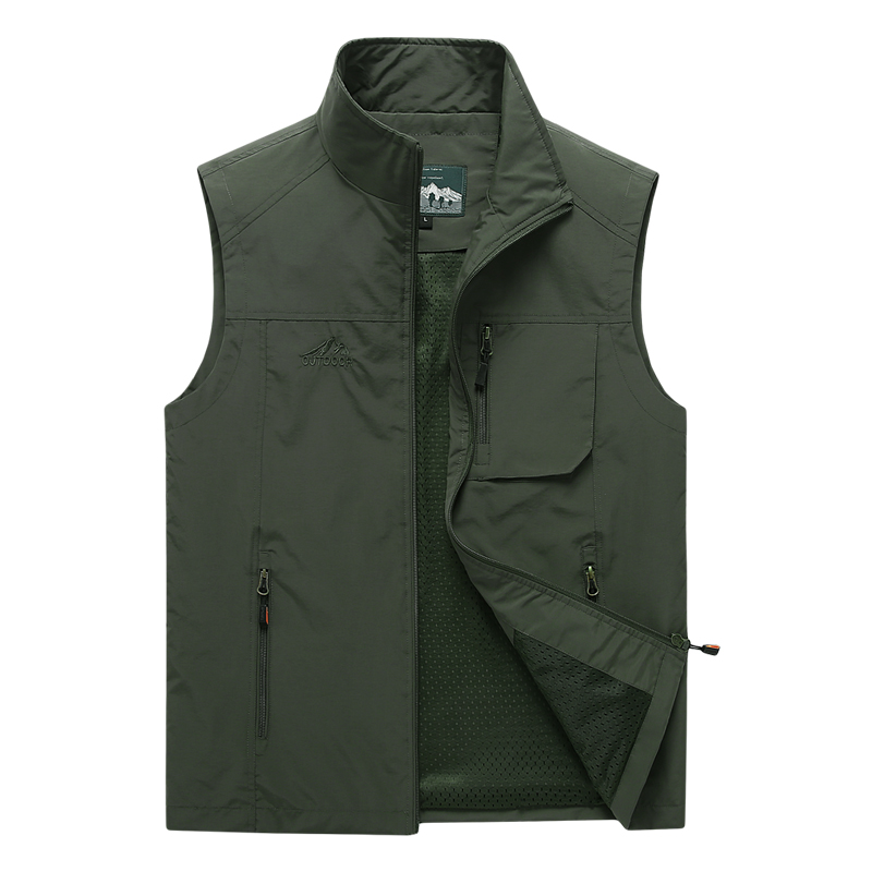 Men's Vests 2020 Autumn Mens Sleeveless Vest Spring Summer Casual Travels Vest Outdoors Thin Big Size Vest Waistcoat Men Clothes