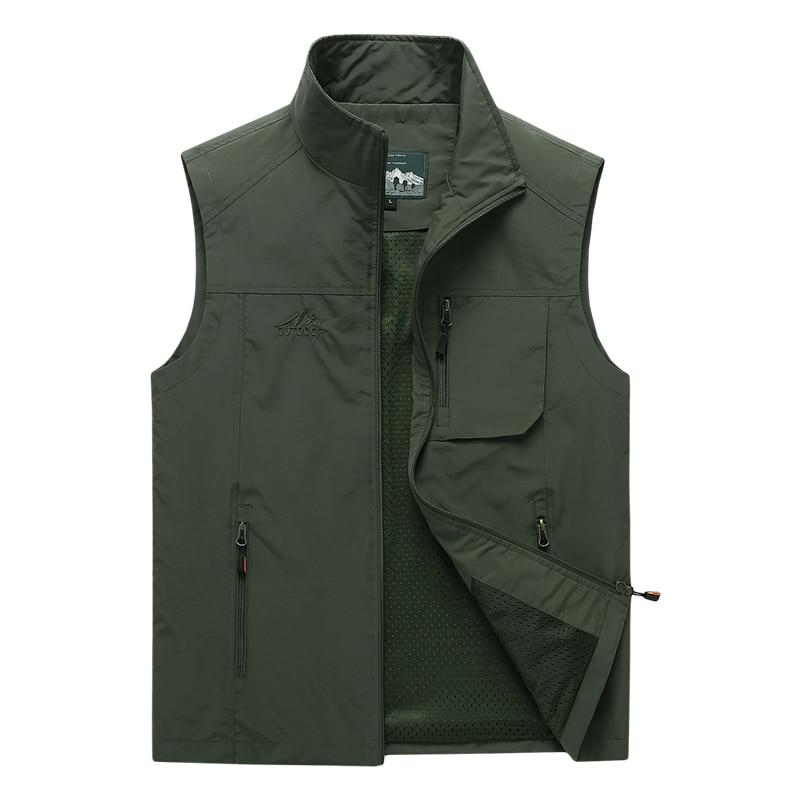 Men's Vests 2020 Autumn Mens Sleeveless Vest Spring Summer Casual Travels Vest Outdoors Thin Big Size Vest Waistcoat Men Clothes
