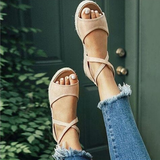 Flat ankle strap summer sandals for women 2