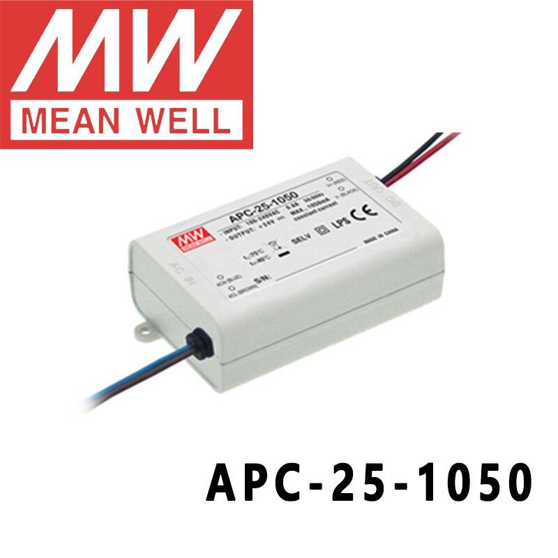 Оригинальный светодиодный импульсный источник питания Mean Well APC-25-1050 meanwell мА постоянного тока 25 Вт с одним выходом