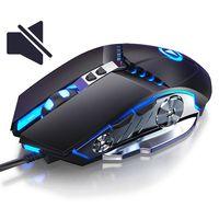 3200 dpi profissional wired gaming mouse silencioso computador mouse gamer para computador pc ratos portátil mouses ópticos para lol cs dota