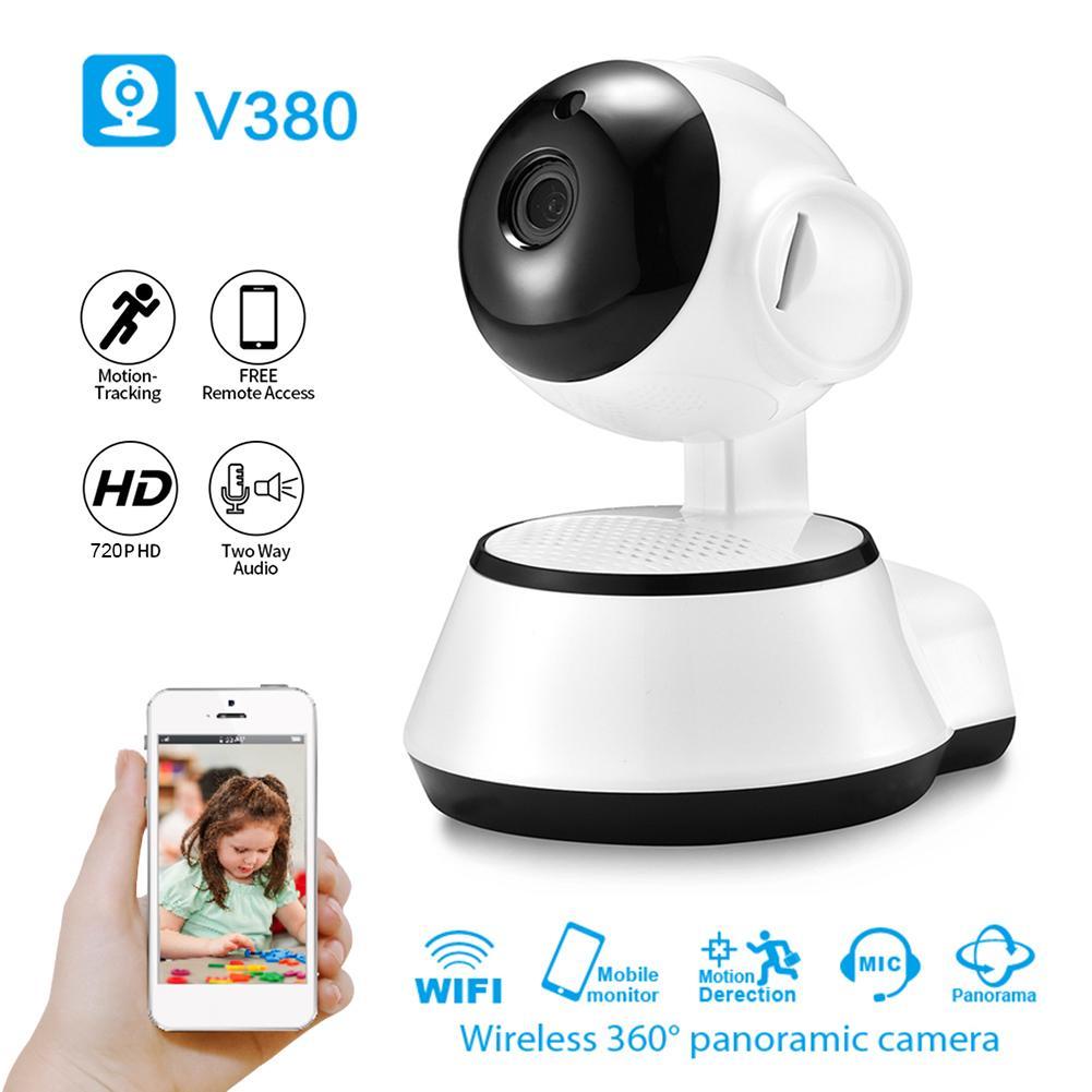 V380 inteligentna kamera monitorująca WiFi dwukierunkowa adaptacja strumienia bitów Audio 720P widzenie nocne z wykorzystaniem podczerwieni IP Camera