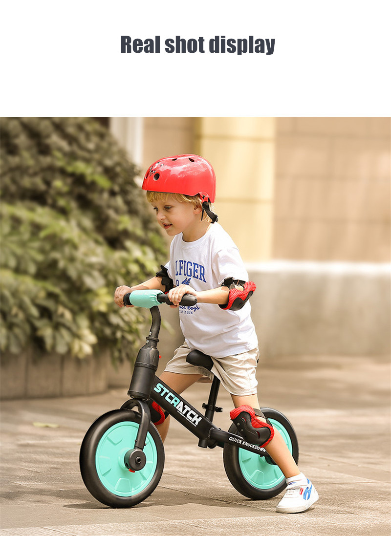 H86c49ae93f4b4e8f892c35d720220c346 Multifunction 2 in 1 Kids Tricycle + Balance Bike Bicycle For 2~6 Ages Child Toddler Complete Cycling Bike Learn to Ride