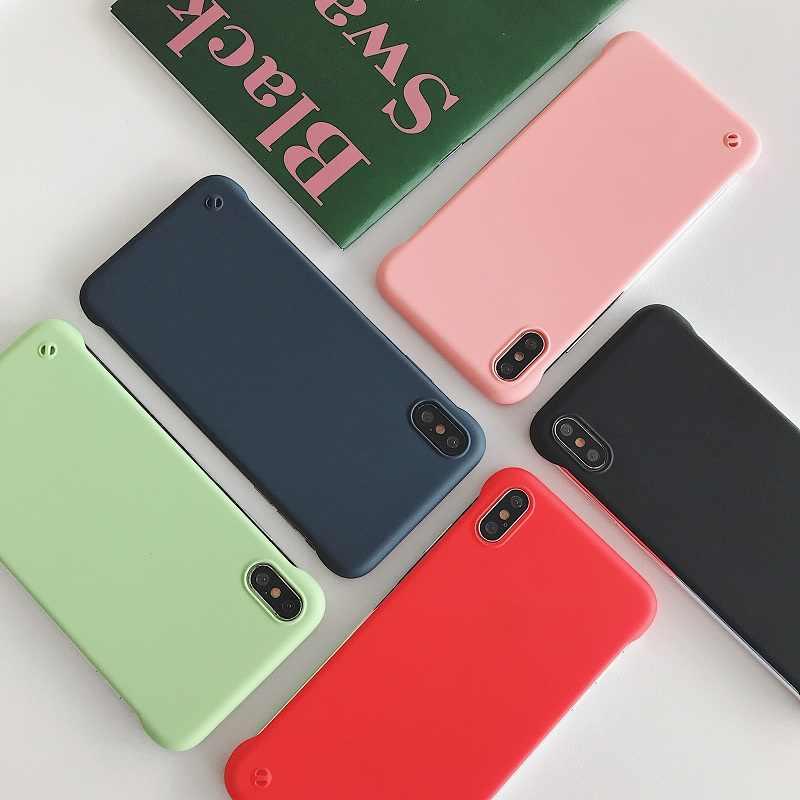 2019 電話ケース iphone 6 7 8 6S 7 8 プラス X XS XR 最大電話ケースキャンディー色 TPU シリコーンフレームレスケース