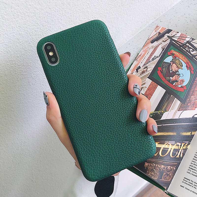 Boucho для iphone Xs MAX XR X XS чехол s крокодиловая текстура чехол для телефона для iphone 11 Pro max 7 8 6 6S Plus Роскошный чехол из искусственной кожи - Цвет: Litchi green