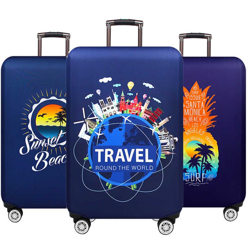 """Viajar ao redor da palavra bagagem capas de proteção protetor grosso elástico mala capa para 18 """"-32"""" bagagem mala de viagem caso 262"""