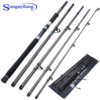 Sougayilang 2.7M 4 Section Fishing Rod Ultralight Weight Spinning Fishing Rod Carbon Fiber Carp Feeder Fishing Rod Tackle Pesca