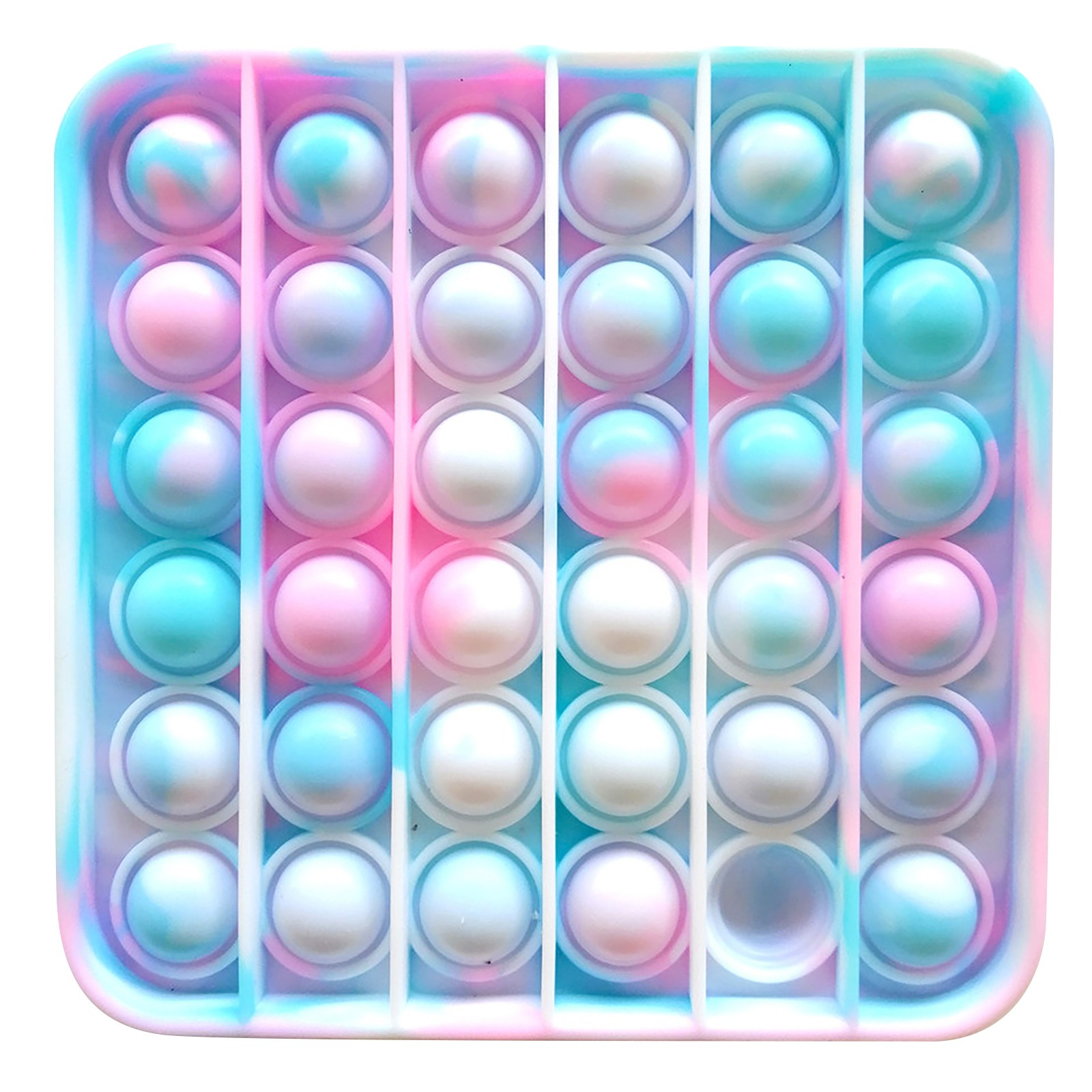 Adult Toys Fidget Rainbow Bubble-Sensory Pop-It Push-Pops Needs Anti-Stress Squishy Colorful img4