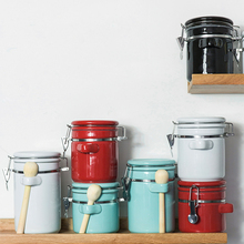 Tank Lid-Storage Canister Ceramic Sealed-Cans Grain-Box-Jars Kitchen Creative Food