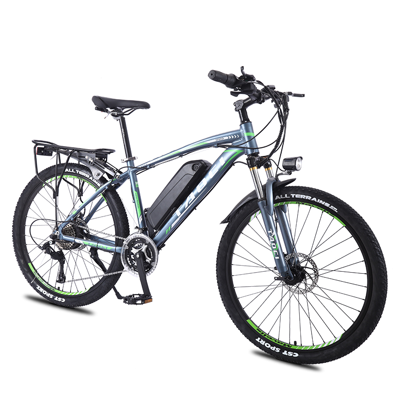 Electric Bicycle 26 Inch 350W Powerful Motormountain 27 Speed Electric bike LCD Display 36V 13A Lithium battery Beach ebike