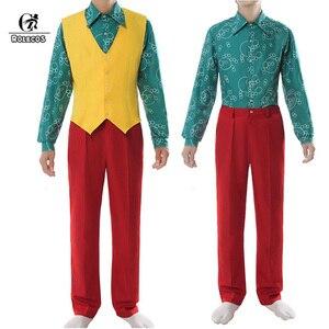 Image 3 - ROLECOS Joker Cosplay Costume Clown Halloween Costume Joker Men Movie Uniform Clown Business Suit
